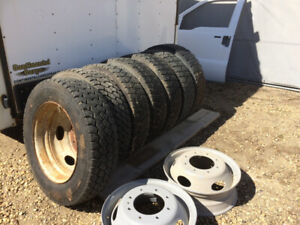 Tires and wheels off super duty  225/70R  19.5