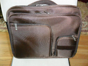 """NEW Brown TOSHIBA Laptop Travel Bag for 17"""" NOTEBOOK SAC"""