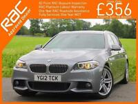 2012 BMW 5 Series 520d Turbo Diesel M Sport Auto Estate Sat Nav Bluetooth Full L