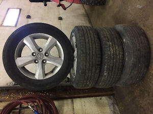 Used Mazda 3 Tires on Original Rims P195/65R15