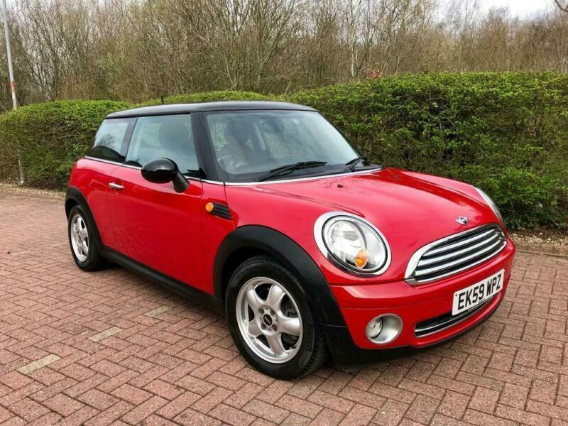 2009 Mini Hatch 16 Cooper Red Black Roof Low Mileage Bluetooth