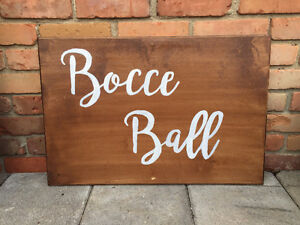 Bocce Ball Wooden Sign