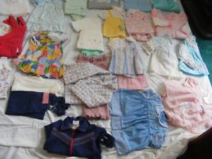 ensembles,20 pyjamas de 6lb a 2 ans,robes,salopettes,camisoles