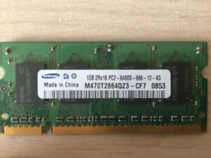 Samsung 1GB PC2 6400S SODIMM laptop RAM