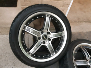Sport CHROME Rims and Tires, (235 45 18),