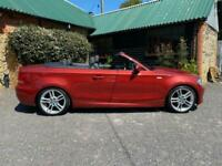 BMW 120i M Sport Convertible 2008 Full Leather Trim Service History Low Mileage