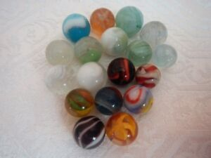 Vintage Collectible Marbles set of 14