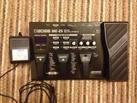 Boss ME-25 Guitar Multi Effects Pedal + Boss Adapter