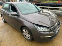 2014 Peugeot 308 1.6 HDi 92 Active 5dr Salvage Damaged Spares or Repair HATCHBA