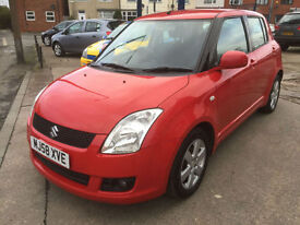 2009 Suzuki Swift 1.5 GLX 92,000 MILES GREAT HISTORY, HPI CLEAR