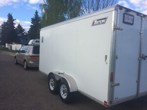 TRITON 7 X 14' V Nose All Aluminum Enclosed Cargo Trailer