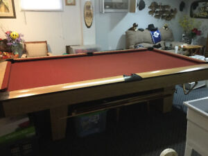 "3 pc. 1"" slate POOL TABLE - VERY GOOD CONDITION"