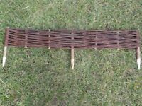 Natural willow lawn border edging - 120x10cm - NEW