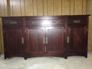 MOVING MUST SELL - Large Dark Espresso Buffet - Tillsonburg