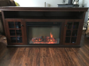 Electric fireplace TV stand in great condition