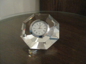 Cut Glass Clock