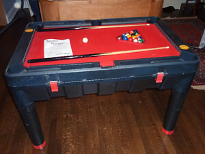 Table jeux 5 en 1:billard, hockey, ping-pong, curling, palet US