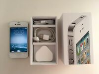 iPhone 4s 16GB, includes box, charger and headphones