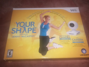 for sale your shape camera and wii game.
