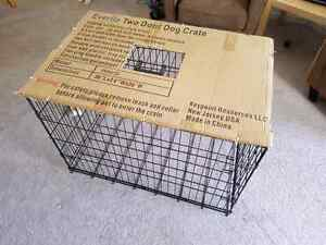 Two Door Dog Crate with Divider