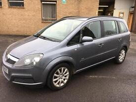 5506 Vauxhall Zafira 1.6i 16v Club Grey 7 Seater 58272mls MOT Dec 2017