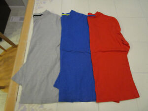 3x Boys Long sleeve athletic t-shirts in size L (10/12) from ON