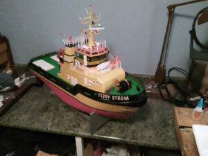 Rc tug boat for sale Tito neri by graupner