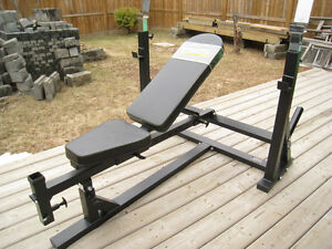 600LB RATED POWERTEC ULTIMATE OLYMPIC INCLINE-DECLINE WEIGHT BE