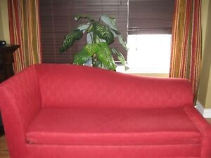 Red sofa bed/ couch in excellent condition