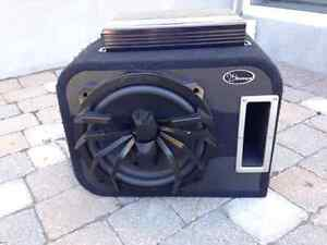 "Subwoofer 12"" (+ cover) et Amplificateur Soundstream 840W"