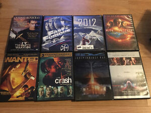 Variety of movies- Action, Superhero, Star Trek etc