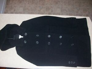 80% Wool Pea Coat (Mid Length)