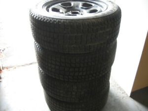 4 Winter tires Firestone 245/55R18 Ford Taurus Police back