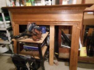 Oak fireplace surround/ convert to headboard or shelf