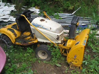 cub cadet tractor blower and cutting deck
