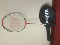 Wilson Strike 1000 Like New Badminton Racquet, Original case