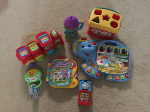 All these baby toys