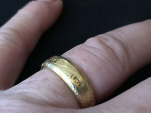 18k Men's Custom Gold Ring