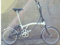 Brompton ivory and black 6 speed