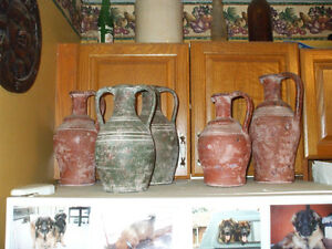 FOR SALE 5 CLAY JUGS (POTTERY)