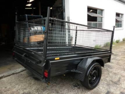 8x5 brand new heavy duty  box trailer+cage