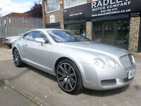 2004 Bentley Continental 6.0 GT Auto 2DR 54REG Petrol Silver
