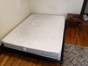 Queen sized bed (soft) with ikea frame
