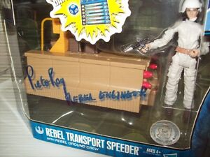 "Star Wars ""Rebel Transport Speeder"" signed by Peter Roy w/pic"