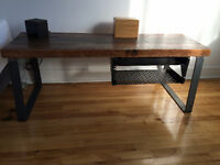 Reclaimed Wood Table -Hot Rolled Steel Legs