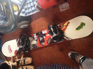 Snowboard,boots and bindings