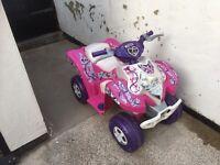 Pink feber 6v electric quad