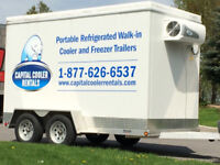 Cooler and Freezer Trailer Rentals, Refrigeration Rentals