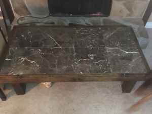 Mennonite built coffee table and 2 end tables $500