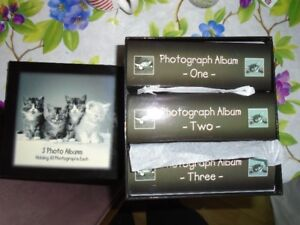 3 Photo Albums in a Kitten Box - NEW